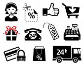 Store signs an icons, set for marketing