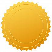 Sello de certificado de Vector