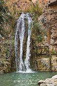 Waterfall In Ein Gedi National Park, Israel