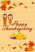 Red Indian wishing Thanksgiving