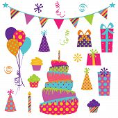 Vector Collection of Bright Party Elements