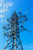 High Voltage Line And Blue Sky
