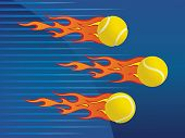 Hot flaming tennis balls.