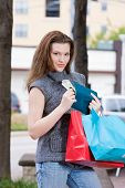 Woman Shopping Spending Limit