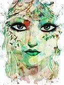 Spring Girl Face
