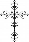 picture of henna tattoo  - Cross christian - JPG