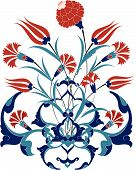 foto of rumi  - Traditional ottoman turkey turkish tulip tile design - JPG