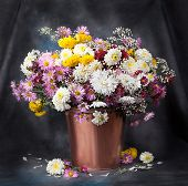 Autumn Bouquet Flower. Beautiful Still Life