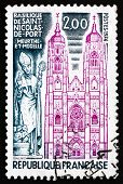 Postage Stamp France 1974 Shows Basilica Of St. Nicolas De Porte