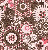 Teste padrão Floral retrô