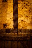 pic of wine-press  - Antique Wine Handpress of an Old Winery - JPG