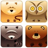 Wild Animals - Icon Set 3 poster