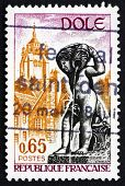 Postage Stamp France 1971 Fountain And Tower, Dole, Jura