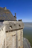 mont saint michel view to the ocean, france