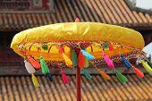 Umbrella at a Pagoda