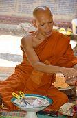 Monk in Wat Preah Ang Thom