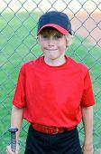 Portrait Of Little League Player