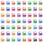 File Type Icons - Color