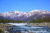 Japan Alps And River