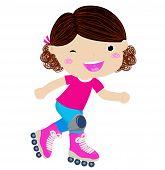 A roller girl