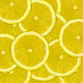Abstract Background Of Lemon Fruit Slices