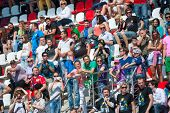 MOSCOW - JUNE 23: People attend World Series by Renault race in Moscow Raceway on June 23, 2013 in M