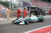 MOSCOW - JUNE 23: Jazeman Jaafar of Carlin team (GBR) ready for start at World Series by Renault in