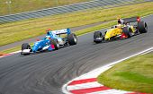 MOSCOW - JUNE 23: Formula renault 3.5 cars race at World Series by Renault in Moscow Raceway on June 23, 2013 in Moscow