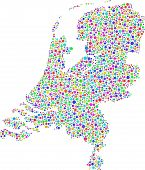 Decorative map of Holland - Europe -