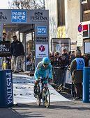 The Cyclist Gasparotto Enrico- Paris Nice 2013 Prologue In Houilles