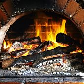 picture of cozy hearth  - The close up view of the Warm Hearth - JPG