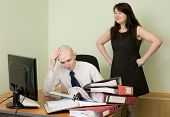 Bookkeeper And The Secretary On A Workplace