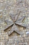 Castle detail at Rhodes island, Greece