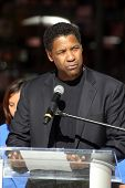 Denzel Washington at a Boys And Girls Clubs Of America Announcement With Denzel Washington And Jenni
