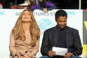 Jennifer Lopez and Denzel Washington  at a Boys And Girls Clubs Of America Announcement With Denzel