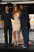 Mario Lopez, Jennifer Lopez and Denzel Washington  at a Boys And Girls Clubs Of America Announcement