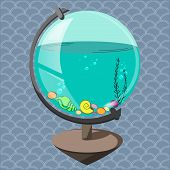 Aquarium in a globe