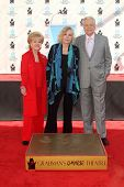 Debbie Reynolds, Kim Novak, Robert Osborne at the Kim Novak Hand and Foot Print Ceremony to coincide