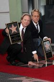 Dewey Bunnell, Gerry Beckley at the America Star on the Walk of Fame Ceremony, Hollywood, CA 02-06-12
