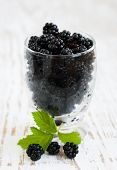 Glass Of Blackberries