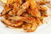 Shrimps Prepared With Garlic, Chilli, White Wine And Balsamic Vinegar