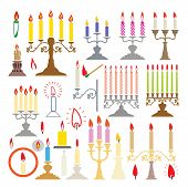 Vector Candlesticks And Candles