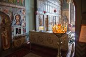 Novgorod, Russia - August 10, 2013 : Interior Of The St. Sophia Cathedral  In Veliky Novgorod, Russi