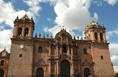 View of the catherdral of Santo Domingo, Cusco, Peru