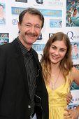 Don Barton and Caitlin Wachs at a screening of