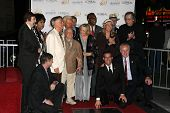 Roger Williams, Mickey Rooney, Jan Rooney, Diane Ladd, Jim Ladd and Bob Barker  at thr Hollywood Wal