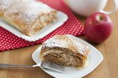 home made apple strudel