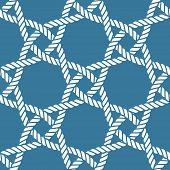 Seamless Nautical Rope Pattern