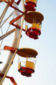 Close Ferris Wheel At Dusk In Autumn