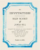 image of invitation  - Wedding invitation with watercolor frame - JPG